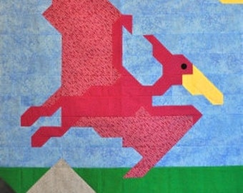 PTERODACTYL Quilt Pattern