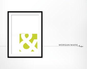 Ampersand, 5x7 Print