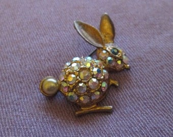 Glitzy Rabbit Brooch