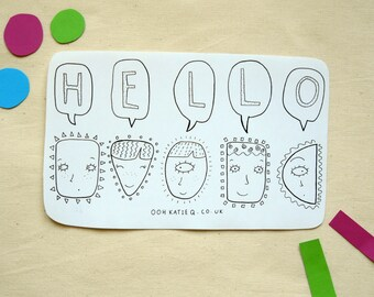 Hello! A5 Sticker