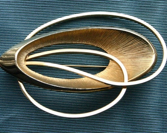 Vintage Emmons Gold Tone Abstract Brooch
