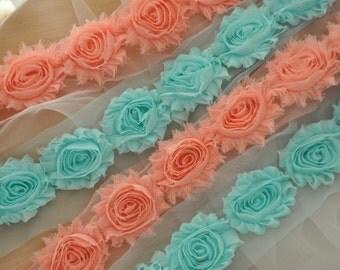 3D Shabby Rosette Lace Trim