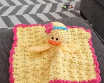 Crochet Duck Baby Lovey