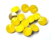 Swarovski 12mm 1122 Yellow Opal Rivoli Round Crystal 1 Piece