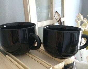 Vintage black coffee cups