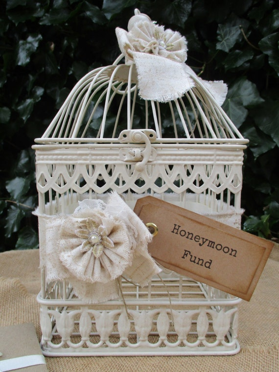 Wedding Gift Post Boxes Uk : Wedding Gift Card Holder-Birdcage Honeymoon Fund Wedding Post Box Card ...