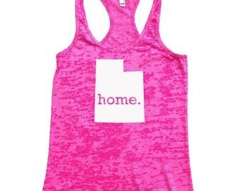 Utah Home Burnout Racerback Tank Top - Women's Workout Tank Top