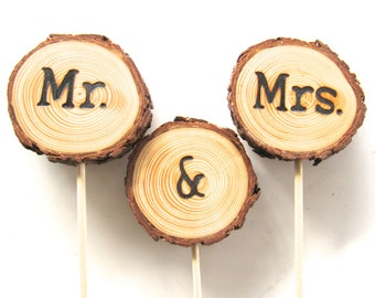 Wood Wedding Cake Topper | Wedding Cake Topper | Rustic Wedding Cake Topper