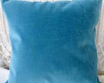 FALL SALE Peacock Velvet pillow cover - Decorative Pillow Covers - velvet pillow - Robert Allen Contentment  upholstery Fabric - velvet on b