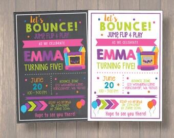 Jump invitation, Bounce house invitation, Trampoline birthday invitation, Pump It Up Party, Sky High Invitation boy Printable DIY