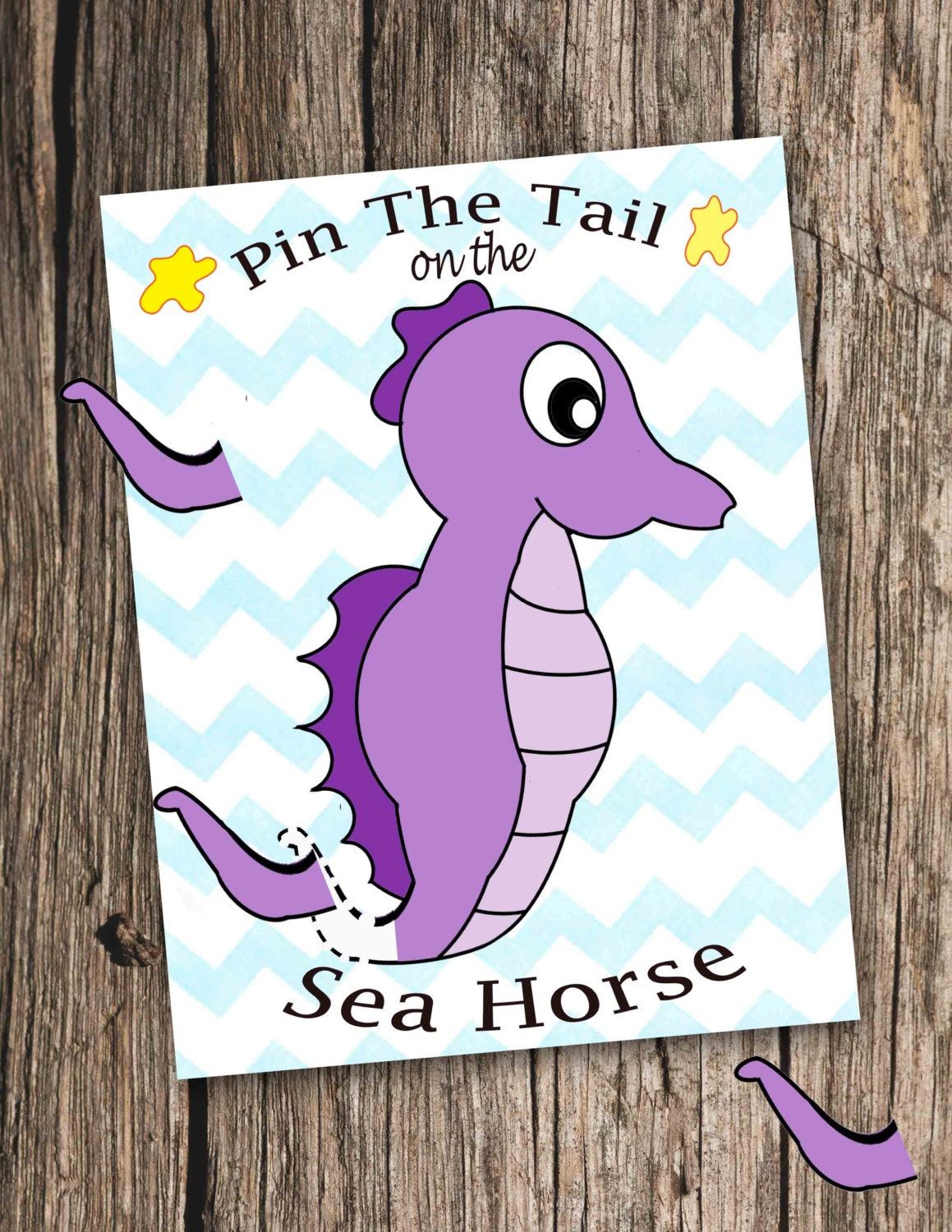 Pin the Tail on the Seahorse Pin the tail on the donkey game