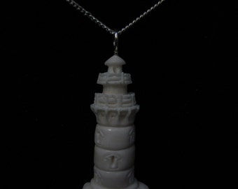 Hand Carved Lighthouse Pendant