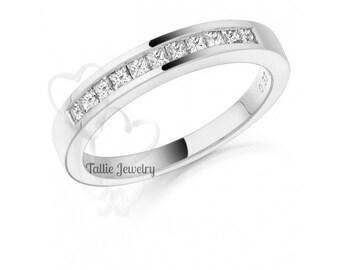 Diamond  Eternity Wedding Rings, Womens 14K Yellow Gold Diamond Wedding Bands,  Diamond Wedding Rings,Matching Wedding Bands