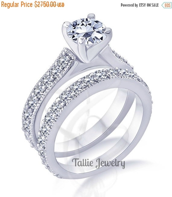 ON SALE 7 28 8 10 Matching Wedding RingsBridal By TallieJewelry