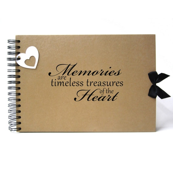 Scrapbook A5 A4 Memories are Timeless Treasures of the Heart, Landscape, Card Pages, Photo Album, Keepsake