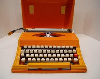 1970's Sears Chevron Typewriter, Mod Orange