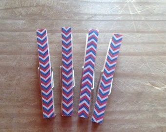 USA Themed Clothes Pins Set of 4
