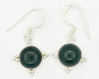 Wonderful! New Green Onyx 925 Sterling Silver Earrings Fashion Jewelry A1785