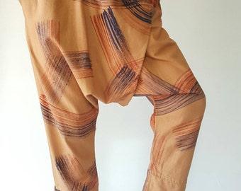HC0017 Men Fashion Pants, Elastic waist pants Unisex pants in color brush