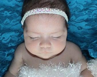 White Halo Headband, White Baby Headband, Princess Headband, Baby Halo Headband, Baby Headband, Christening Headband, White Headband, White