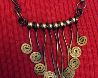 Mobile Spiral Necklace