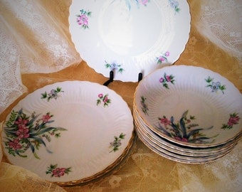 Vintage Victorian China Occupied Japan Gayety Plates and Bowls