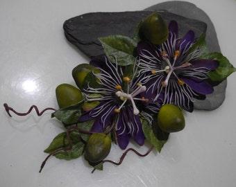 Large Passion Flower Clip