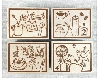 Tea Time Stamp Etsy