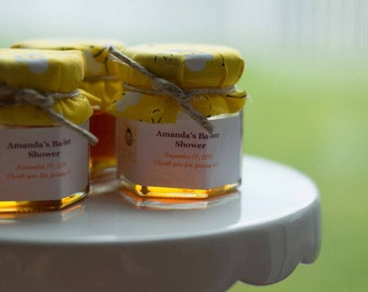 Honey Jar Favors with Personalized Labels - Baby Shower Favors- Baby Party Favors - Bumble Bee - Winnie the Pooh Favors