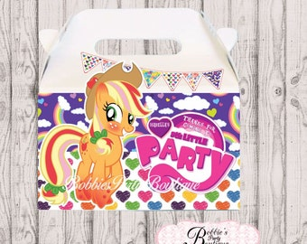 My Little Pony party favor box, My Little Pony gable box, 10 My Little Pony party favor gable box, My Little Pony favor box