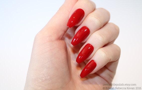 Red Coffin Nails Nail Designs Nail Art Nails Stiletto