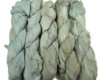 50g Recycled Sari Silk Ribbon, Lily of the valley