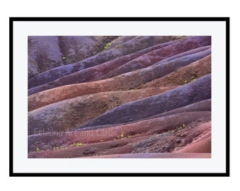 Purple Wall Decor for Living Room, Abstract Landscape Photography, Contemporary Art