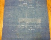 Original 1950 Blueprints House Floor plans and Elevations set of 6 sheets!