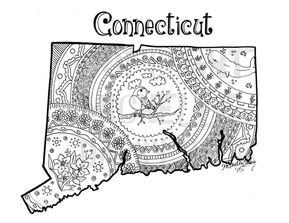 coloring pages of connecticut - photo#21