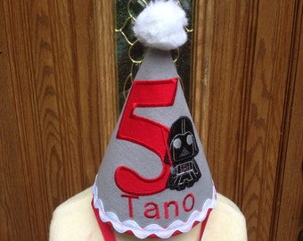 Stars Wars Birthday Hat - Boys Stars Wars Theme Birthday Hat