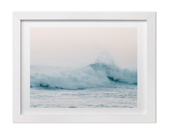 Ocean Wave Photograph, Minimalist Beach Fine Art Print, Costa Rica Nature and Landscape Photography