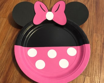 Minnie Mouse Plates, Minnie Mouse Party, Minnie Mouse Decoration, Minnie Mouse Birthday, Minnie Mouse Polka Dot bow plates