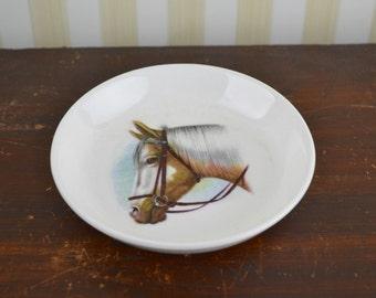 Vintage Equestrian Dish