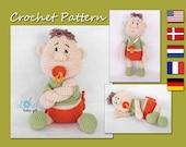 Amigurumi Doll Pattern Crochet, Baby Doll Crochet Pattern, Newborn, Amigurumi Toy, Doll, CP-128