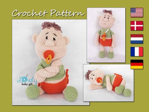 Stitch Amigurumi Doll Pattern : Amigurumi Doll Pattern Crochet Baby Doll Crochet Pattern