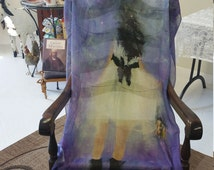 Fine Art Fashion, Scarves, Paintings on Modal Fabric, Figure, Woman, Babydoll Dress, Burberry Purse, Art by L.M.Sanders