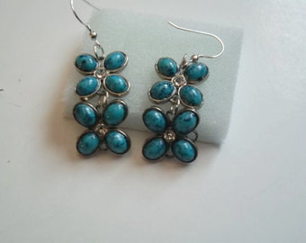 Geek jewelry,teal blue, bff gift, black friday ,cyber monday,hip hop jewelry, chic earrings, bollywood jewelry