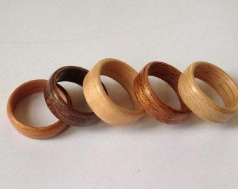Bentwood Hardwood Rings