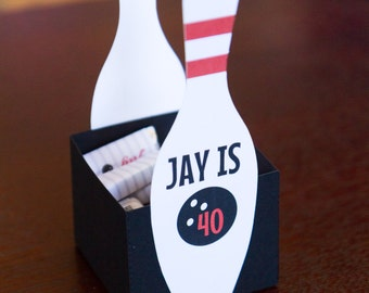 NEW!!!! Bowling Centerpiece -Personalized (Set of 4)