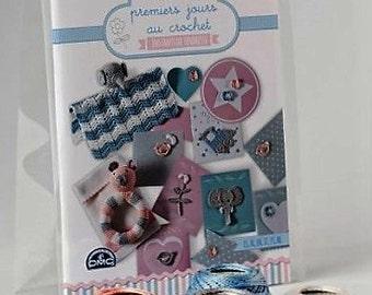 DMC Baby Crochet Kit CR045K - Multi-Lingual Instructions - Rattles Pins Book New