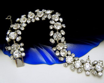 Gorgeous Vintage Crystal Rhinestone Bracelet Austria High Quality