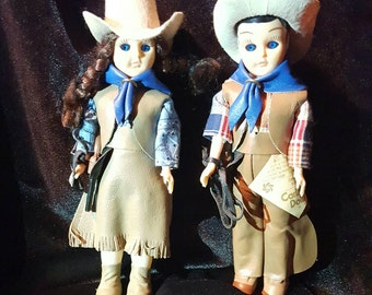 Carlso Dolls Cowboy and Cowgirl
