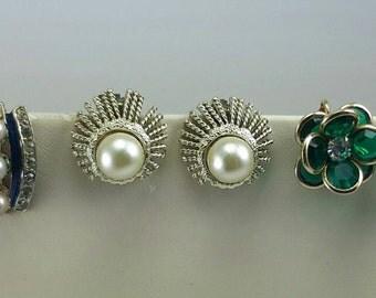 Three pair vintage earrings.