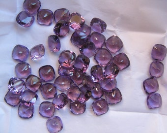 Wholesale Lot Of 15 Pcs. Natural Amethyst Cushion Normal Cut Calibrated Loose Gemstone